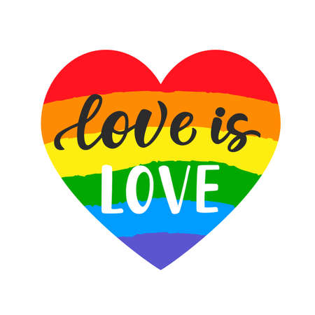 Love is love brush lettering
