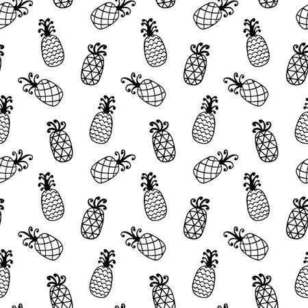 Pineapples seamless pattern isolated on white Фото со стока - 81231708