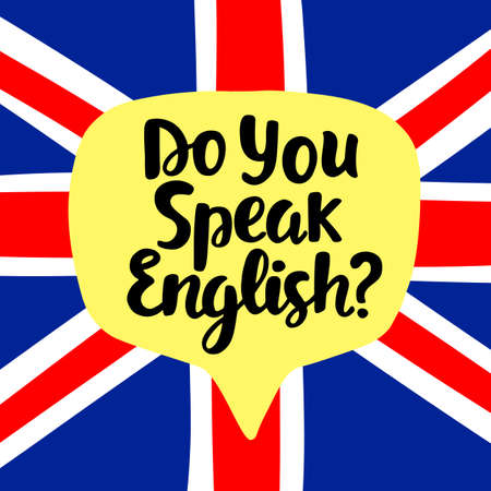Do you speak English 向量圖像
