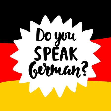 독일어를 할 수 있습니까? 일러스트