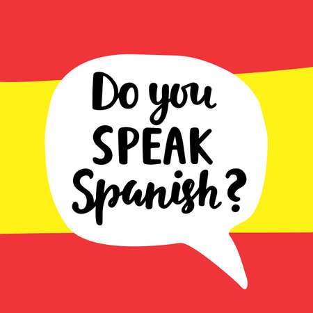 Do you speak Spanish Vettoriali