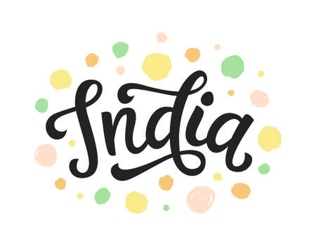 India hand written lettering