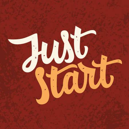 Just Star slogan. Modern calligraphy