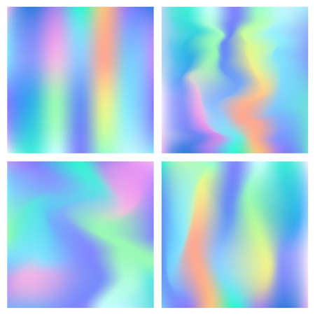 Holographic hipster abstract backgrounds set Reklamní fotografie - 81959947