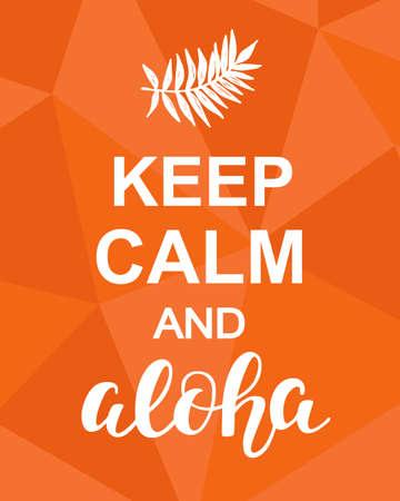 Keep Calm and Aloha Illustration