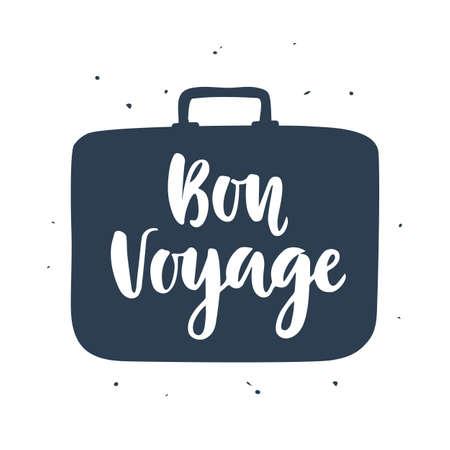 Bon Voyage poster met handgeschreven letters