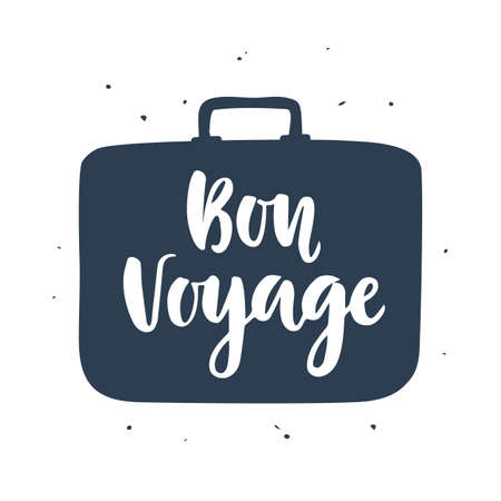 Bon Voyage poster with hand written lettering