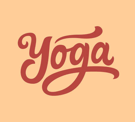Yoga hand written lettering