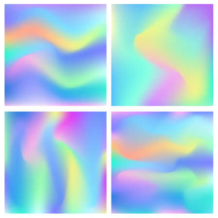 Holographic abstract background set