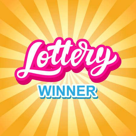 Lottery Game Banner. Modern Hand Lettering