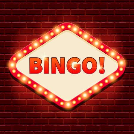 Bingo! Casino, lotto billboard background