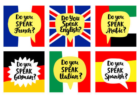Language school banners set