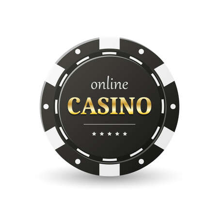 Online casino banner illustration. Illustration