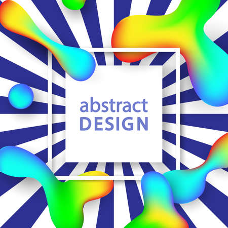 Creative Abstract Vector Background With Fluid Colorful Shapes. Hipster Trendy Design. Poster, Banner, Greeting Card Template. Banco de Imagens - 83311527