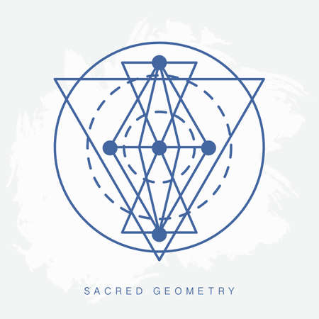 Sacred geometry sign. Vector illustration.