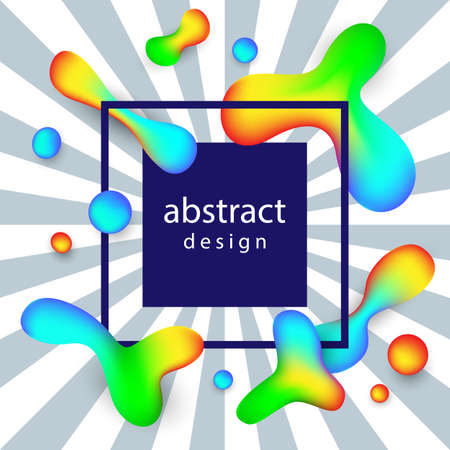 Creative Abstract Vector Background With Fluid Colorful Shapes
