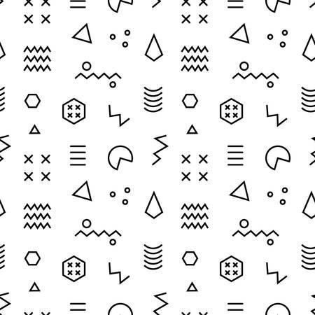 Retro memphis seamless pattern