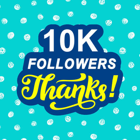 10000 followers thanks. Congratulations card template