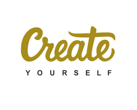 Create Yourself modern calligraphy Çizim