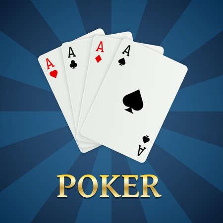 포커 카드. 도박 개념, 카지노 모바일 앱