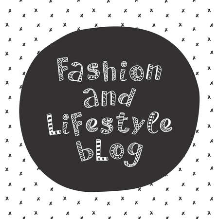 Fashion and lifestyle blog modern lettering in ethnic scandinavian style Illustration