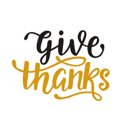 Give Thanks. Thanksgiving Day poster