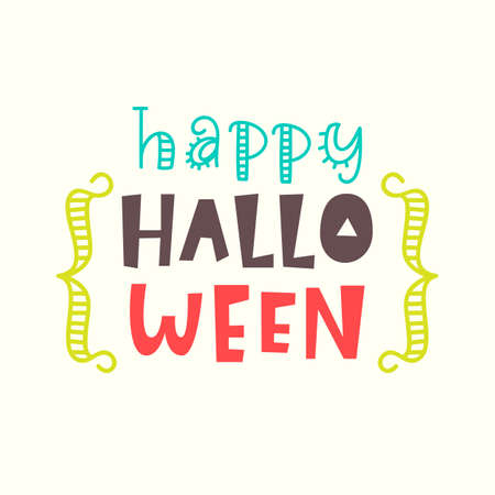 Happy Halloween card. Typography poster design