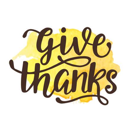 Thanksgiving Day hand written lettering.