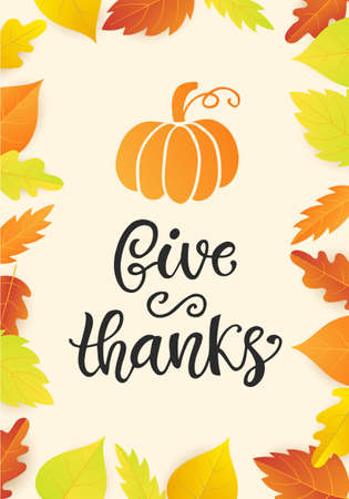 Thanksgiving Day poster template.