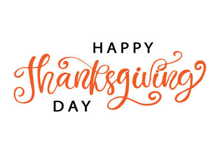 Thanksgiving Day lettering for greeting cards