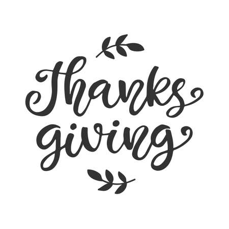 Thanksgiving lettering for greeting cards