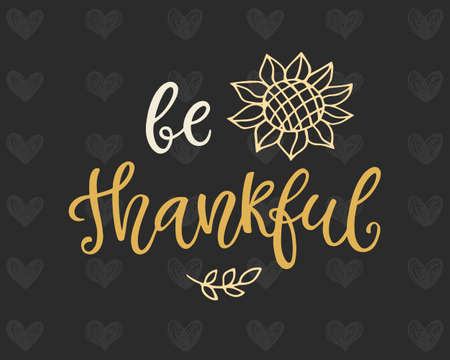 Be Thankful poster template 向量圖像