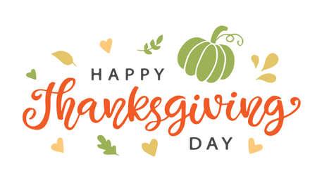 Thanksgiving Day lettering Illustration
