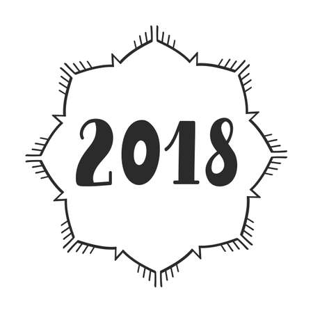 2018 year, hand lettering