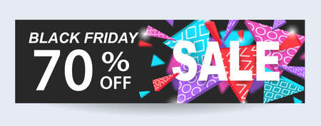 Black Friday Sale Banner Design Template Stock Vector - 87939429