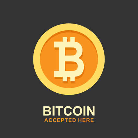 Bitcoin concept. Cryptocurrency logo sigh. Digital money.