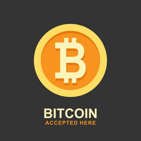 Concept de Bitcoin. Logo crypto-monnaie soupir. Argent numérique. Banque d'images - 88557358