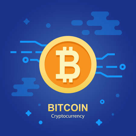 Bitcoin concept cryptocurrency sigh