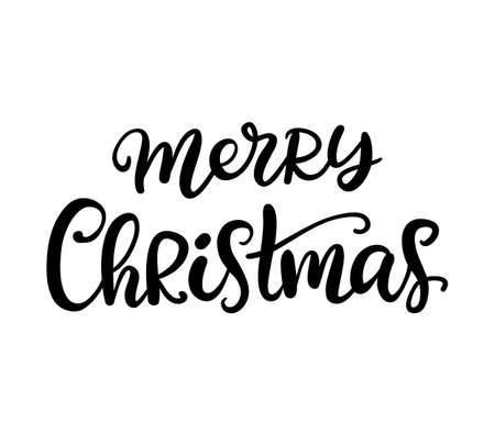 메리 크리스마스 붓글씨 일러스트