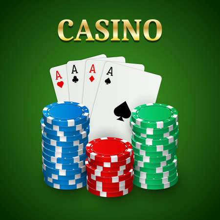 Casino poker background Ilustrace