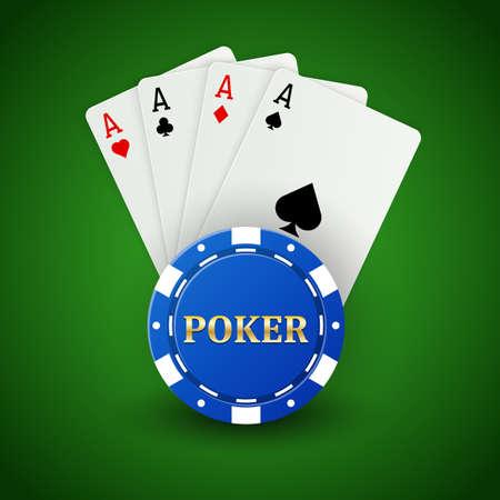 Casino poker background Illustration
