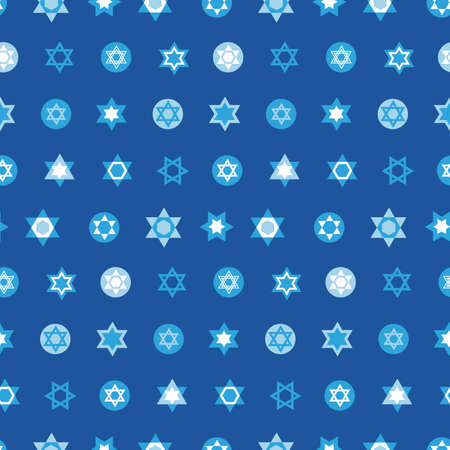 Jewish stars set seamless pattern. Star of David national Israel symbols 版權商用圖片 - 89694570