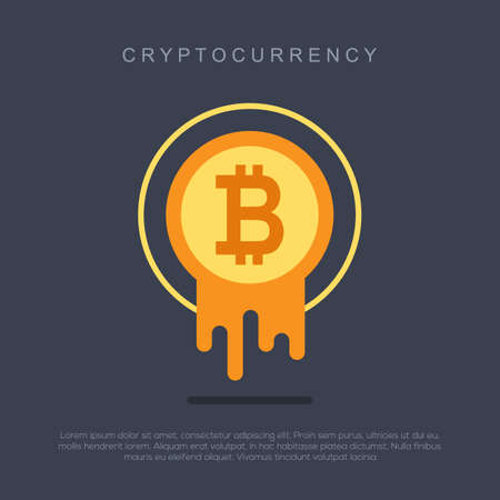 Bitcoin concept. Cryptocurrency logo sigh. Digital money 版權商用圖片 - 89851525
