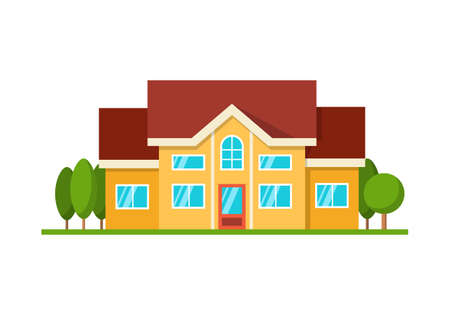 Modern house icon. Illustration