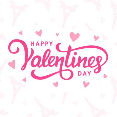 Happy Valentines Day typography poster with handwritten calligraphy text Zdjęcie Seryjne