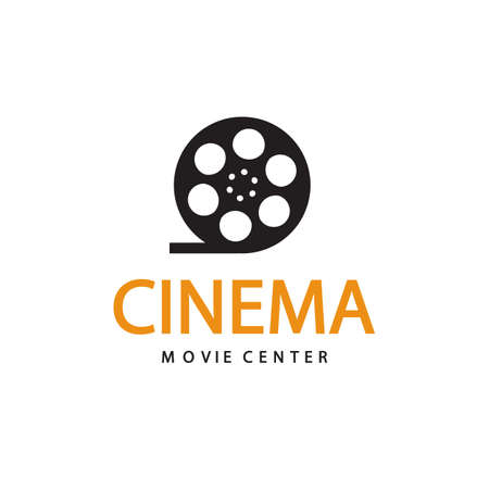 Cinema icon. Vector emblem template design illustration.