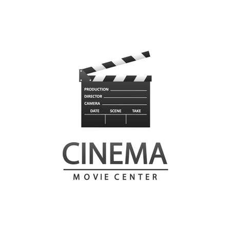Cinema logo with clapper Illustration