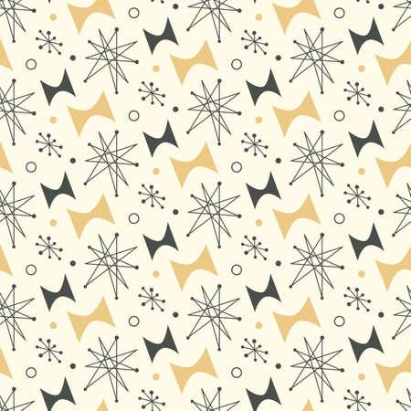 Mid century modern seamless pattern Stock Vector - 95215847