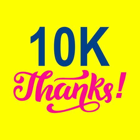 10000 followers thanks. Congratulations card template
