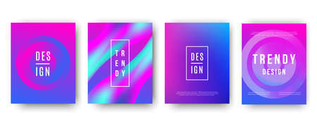 Modern futuristic ultra violet covers set Illustration